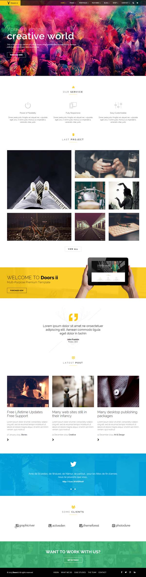 Doors Two - Multipurpose HTML Template