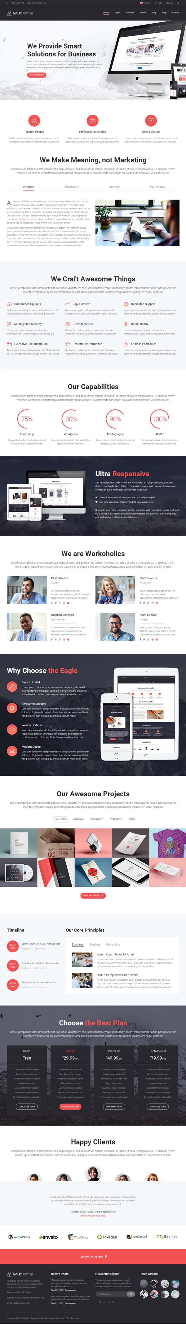 Eagle - Creative Business Website Template