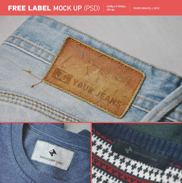 Free Label MockUp PSD Template