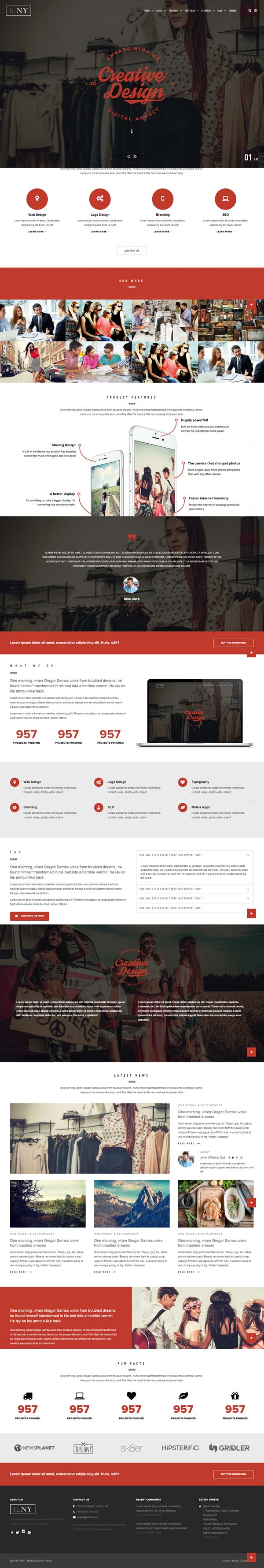 ILNY - Responsive Multi-Purpose HTML Template