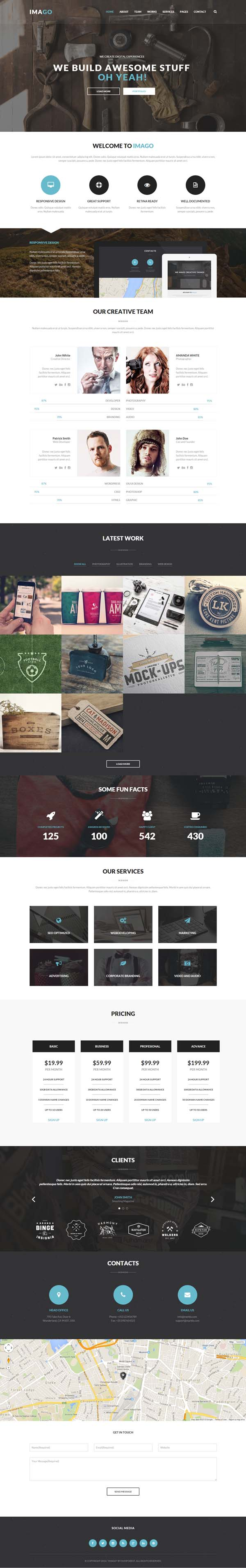 15 New Responsive HTML5 CSS3 Website Templates | Design | Graphic ...
