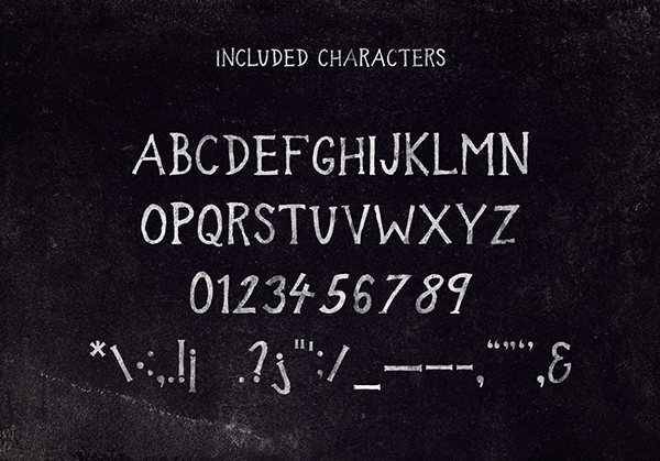 In the Wood Font Letters