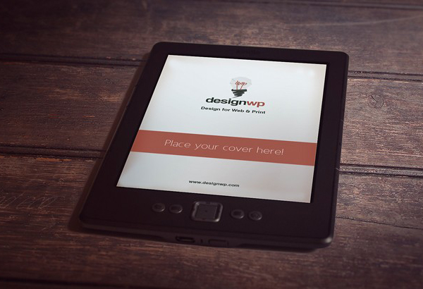 Photorealistic E-Book Reader Free Mockup