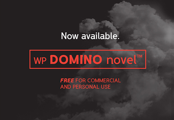 WP DOMINO novel free font
