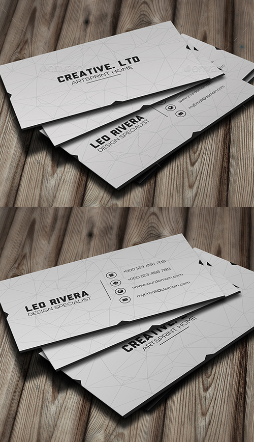 White Minimal Business Card