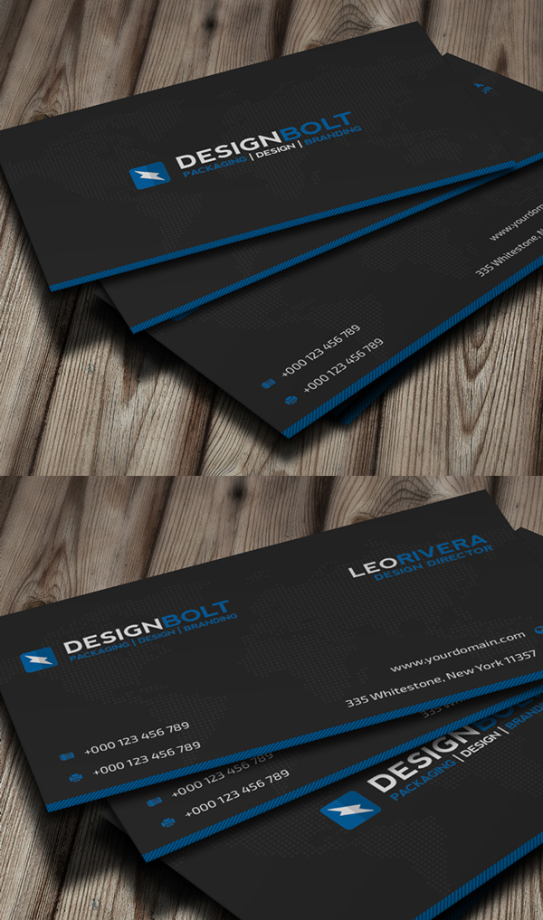 Blue Corporate Business Card
