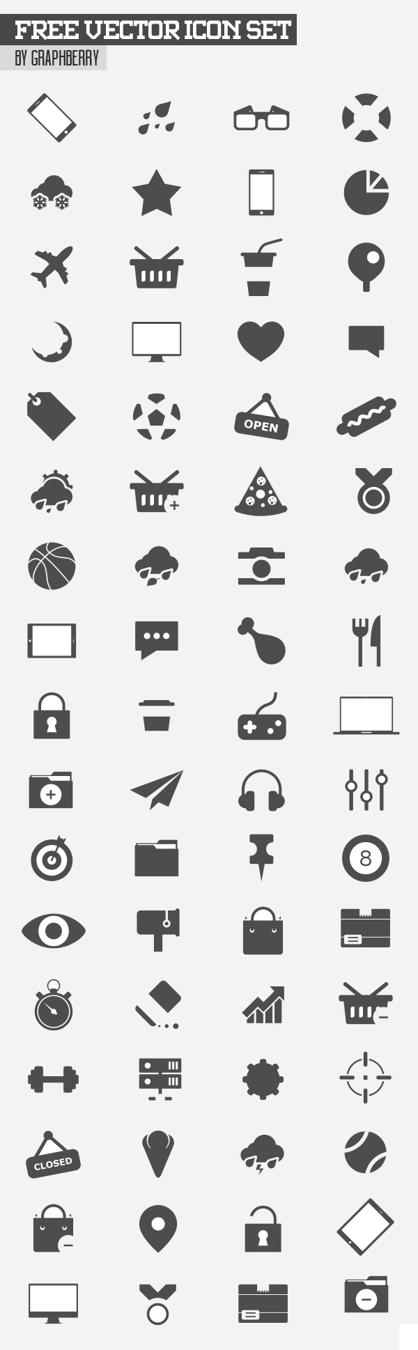Free Vector Icon Set - 80+ Icons