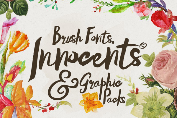 Innocents fonts & Graphic packs