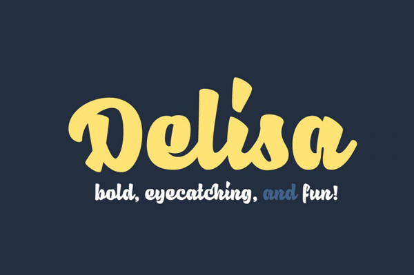 Delisa is bold, modern, and fun typeface