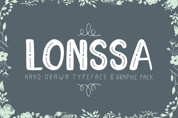 Lonssa is a handdrawn sans serif font
