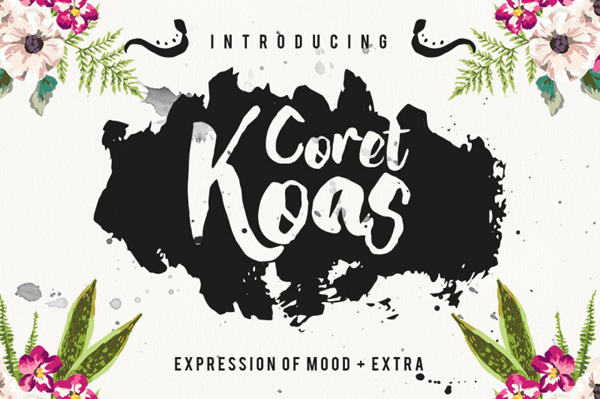 CoretKoas font is an expression of mood