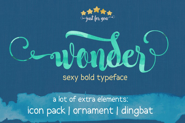 Wonder is another modern calligraphy typeface