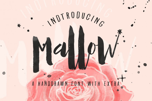 Mallow typefaces Handprinted Characters