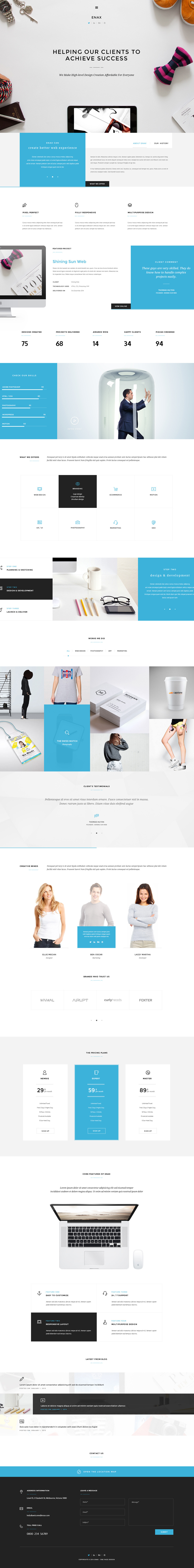 Enax - A Stylish and Modern Corporate Theme