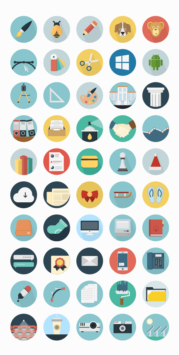 Pofessional Free Flat Icons Set