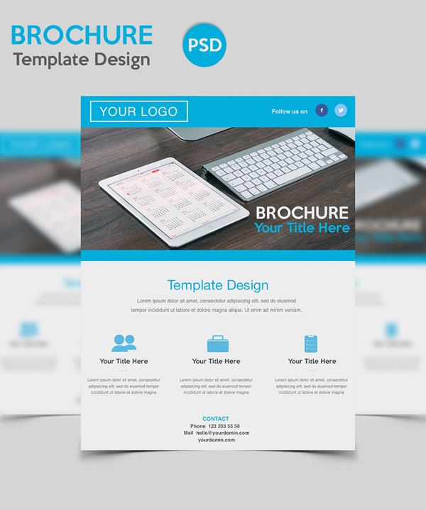 brochure template photoshop free - useful free photoshop psd files for designers freebies