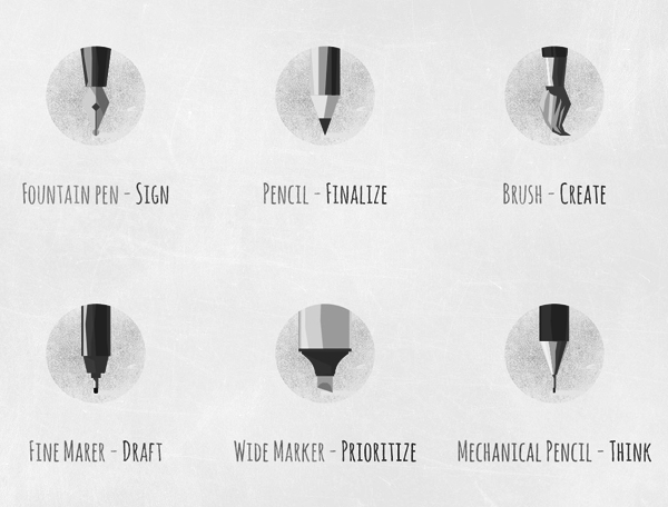 Free Polygon Flat Writing And Drawing Equipment Icon Set