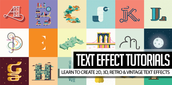 25 Amazing Text Effect Photoshop & Illustrator Tutorials