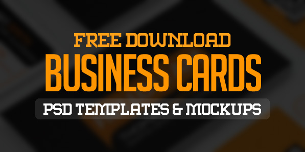 25 Free Business Cards PSD Templates and Mockup Designs