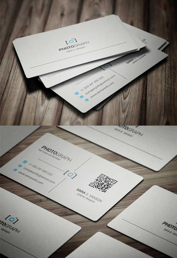 Corporate creative business card psd templates design graphic photography business card psd template reheart