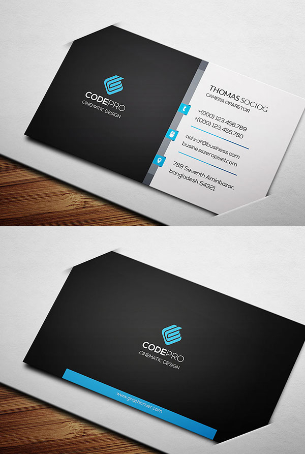 Corporate creative business card psd templates design graphic corporate business card template accmission Images