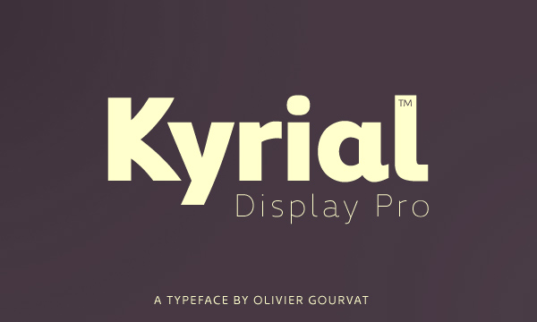 Kyrial Display Pro Black & Ultra Light