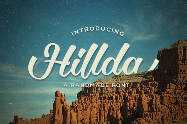 Hillda Script is bold, modern, and multi-purpose typeface
