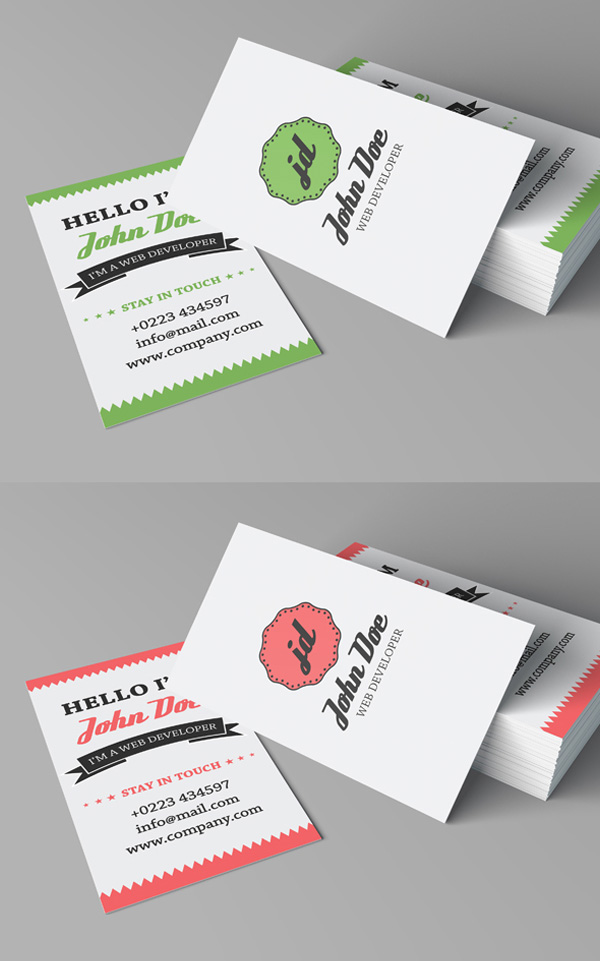 Free business cards psd templates mockups freebies graphic free retro personal business card friedricerecipe Images