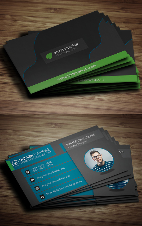 Free Business Cards PSD Templates Mockups Freebies Graphic - Calling card template free download