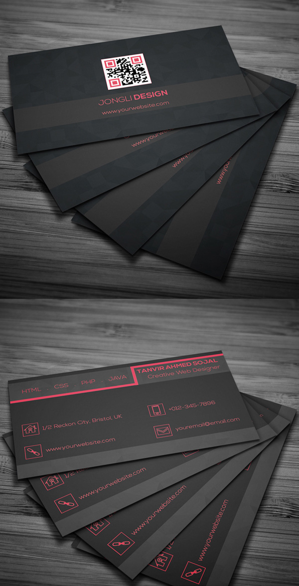 Free business cards psd templates mockups freebies graphic free dark business card psd template reheart
