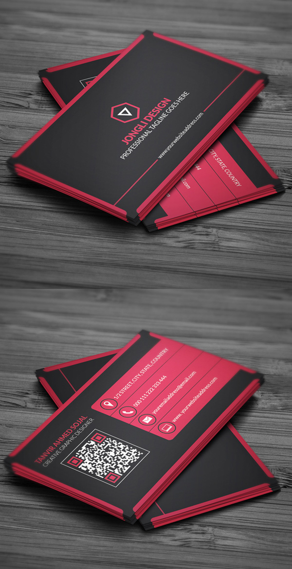 Modern Corporate Business Card (Freebie)
