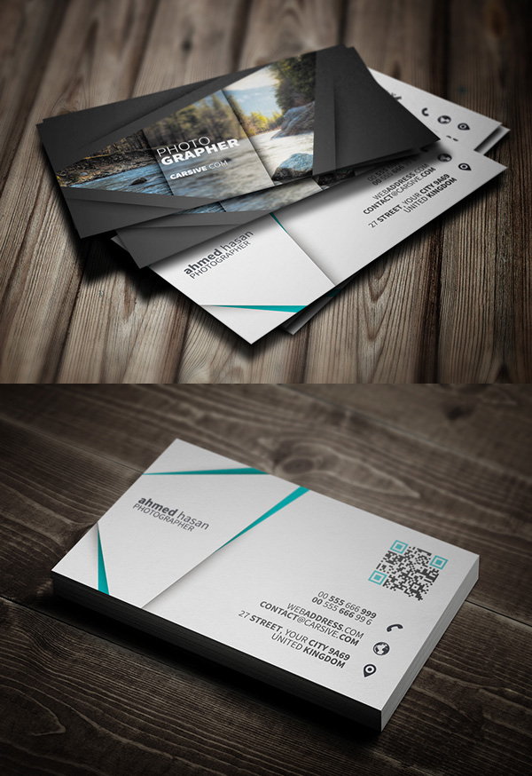 Free business cards psd templates mockups freebies graphic free photographer business card template cheaphphosting Gallery