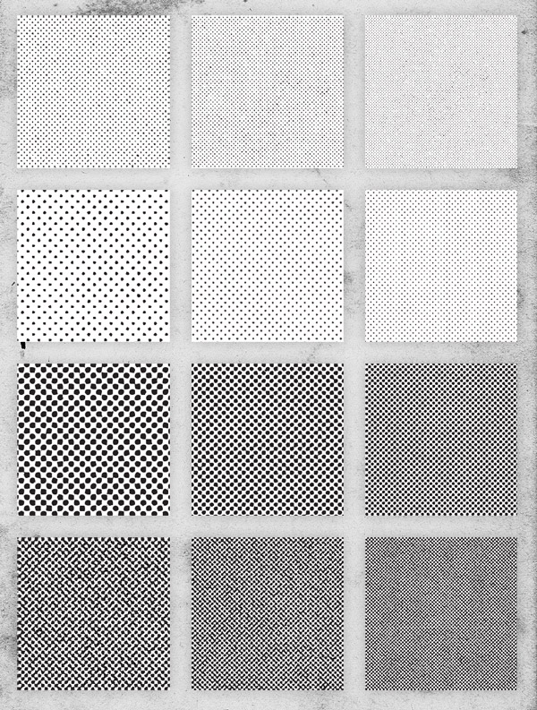 Free 12 Distressed Halftone Pattern Textures
