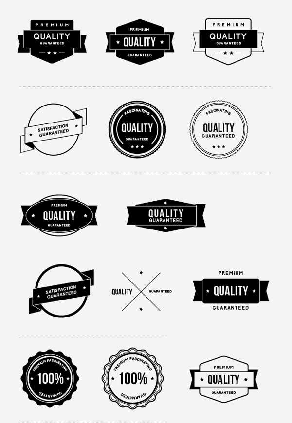 Free Vector & Psd Award Badges