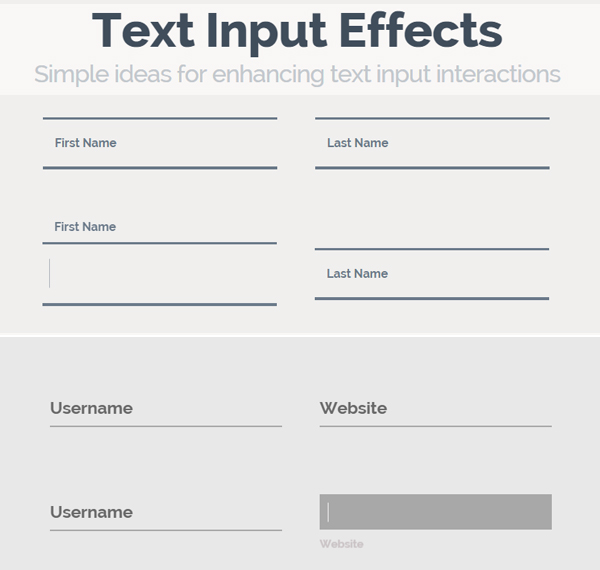 Creative Text Input Effects