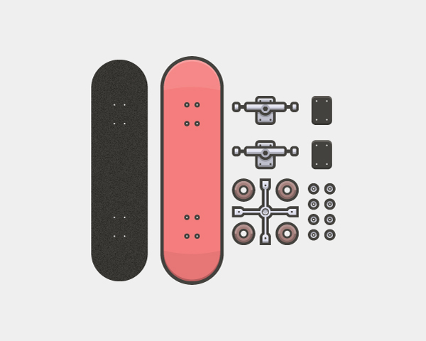 How to Create a Line Art Based Skateboarder Kit in Adobe Illustrator