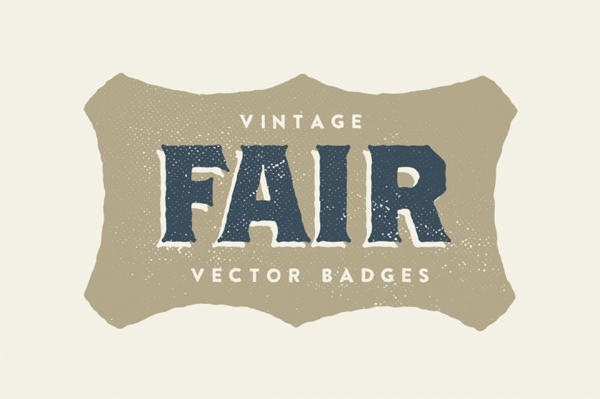 15 Vintage Fair Badges
