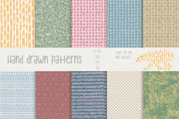 40 Hand drawn patterns