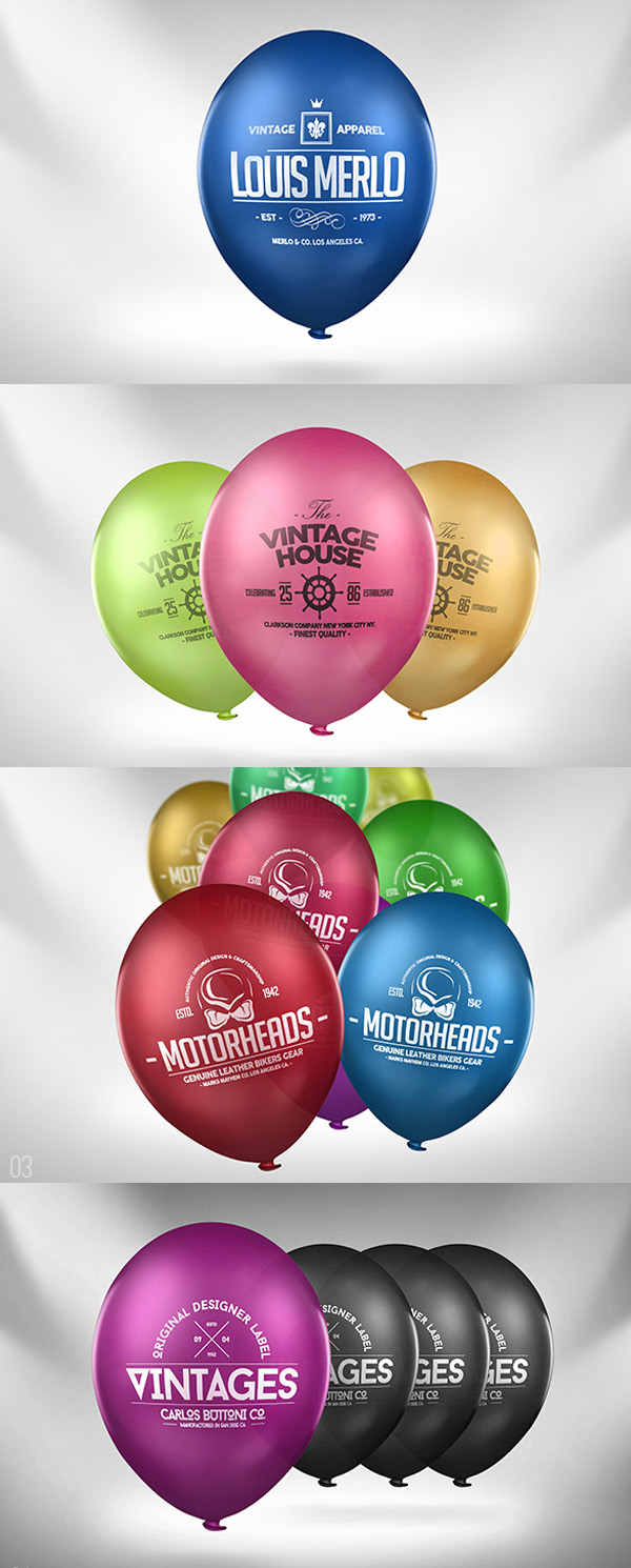 Balloon Logo Mock-up
