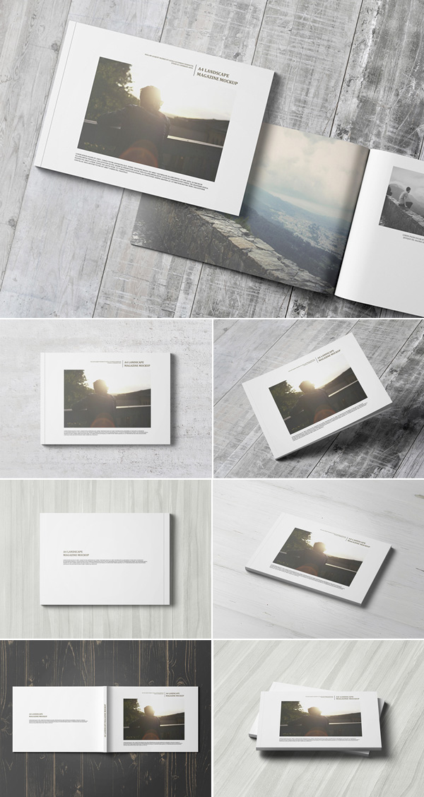 A4 Landscape Magazine / Catalogue Mockup