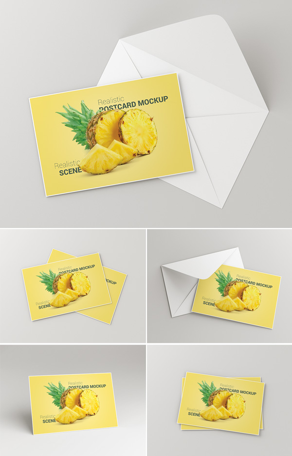 Postcard / Invitation Card Mockup PSD