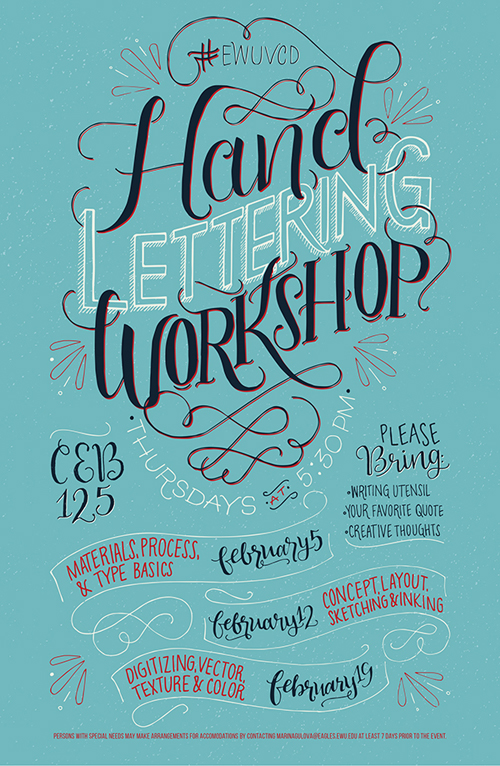 Hand Lettering Workshop Poster