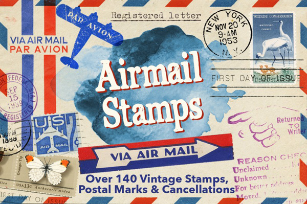 Airmail Postal Kit 140 Items