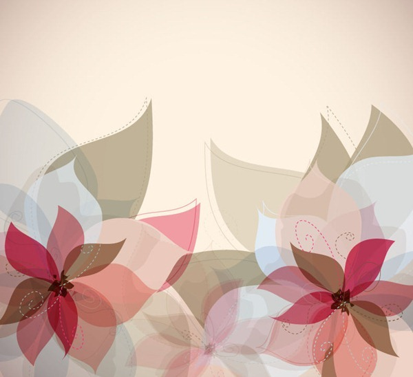 Floral Abstract Vector Background