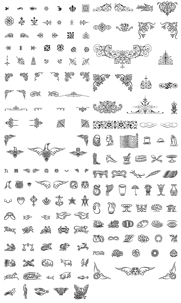 Free Vector Ornaments