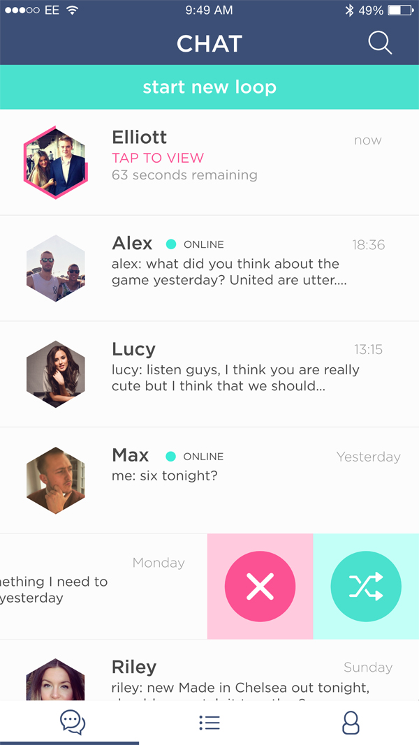 Feed and Chat App UI UX by Elliott Gibb