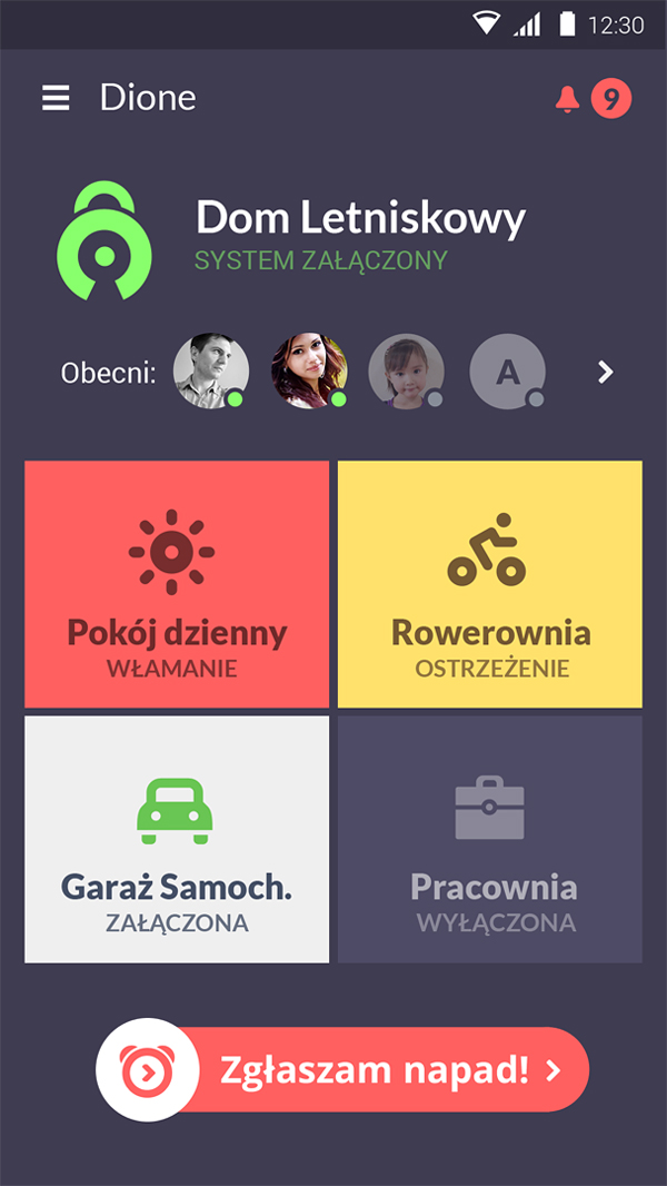 Dione App UI Main Screan by Przemyslaw Cholewa