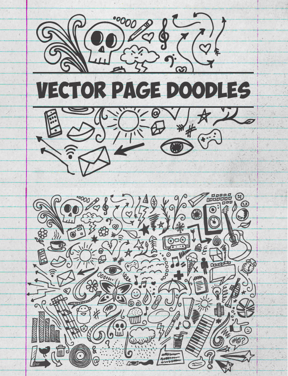 Vector Page Doodles Graphics