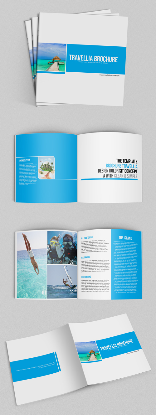 Square Travellia Brochure Template