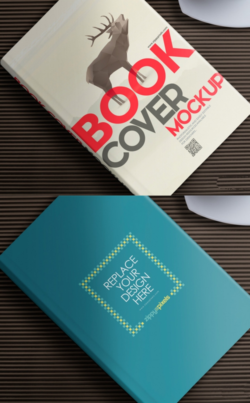 Free Book Mockup for Cover Design Presentations